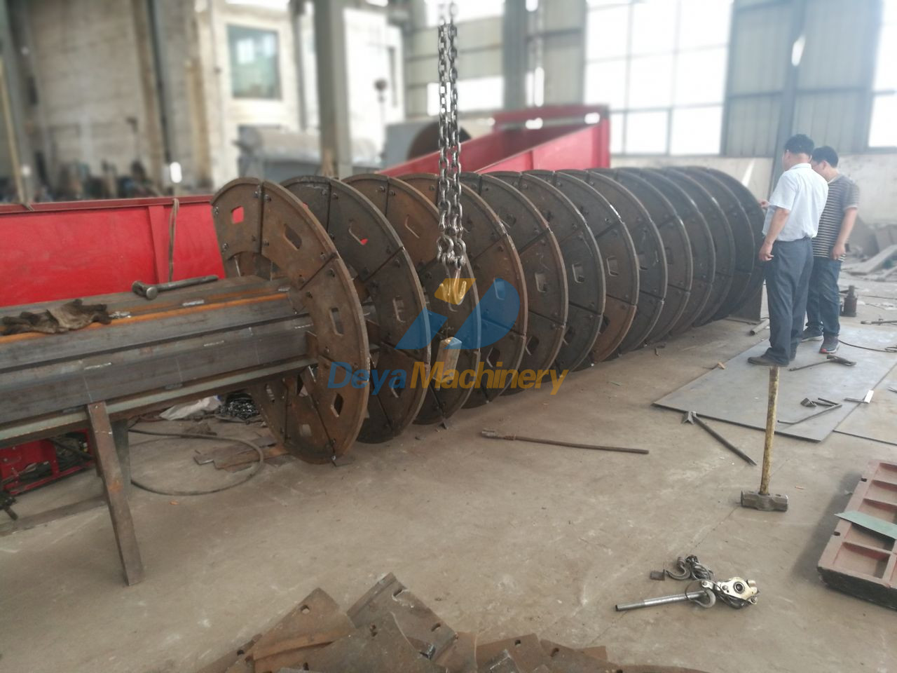 Main shaft preparation and install of impeller